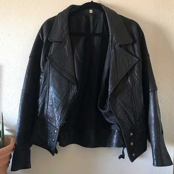 made in mexico Jackets & Blazers - Vintage Supple black Leather Moto biker jacket
